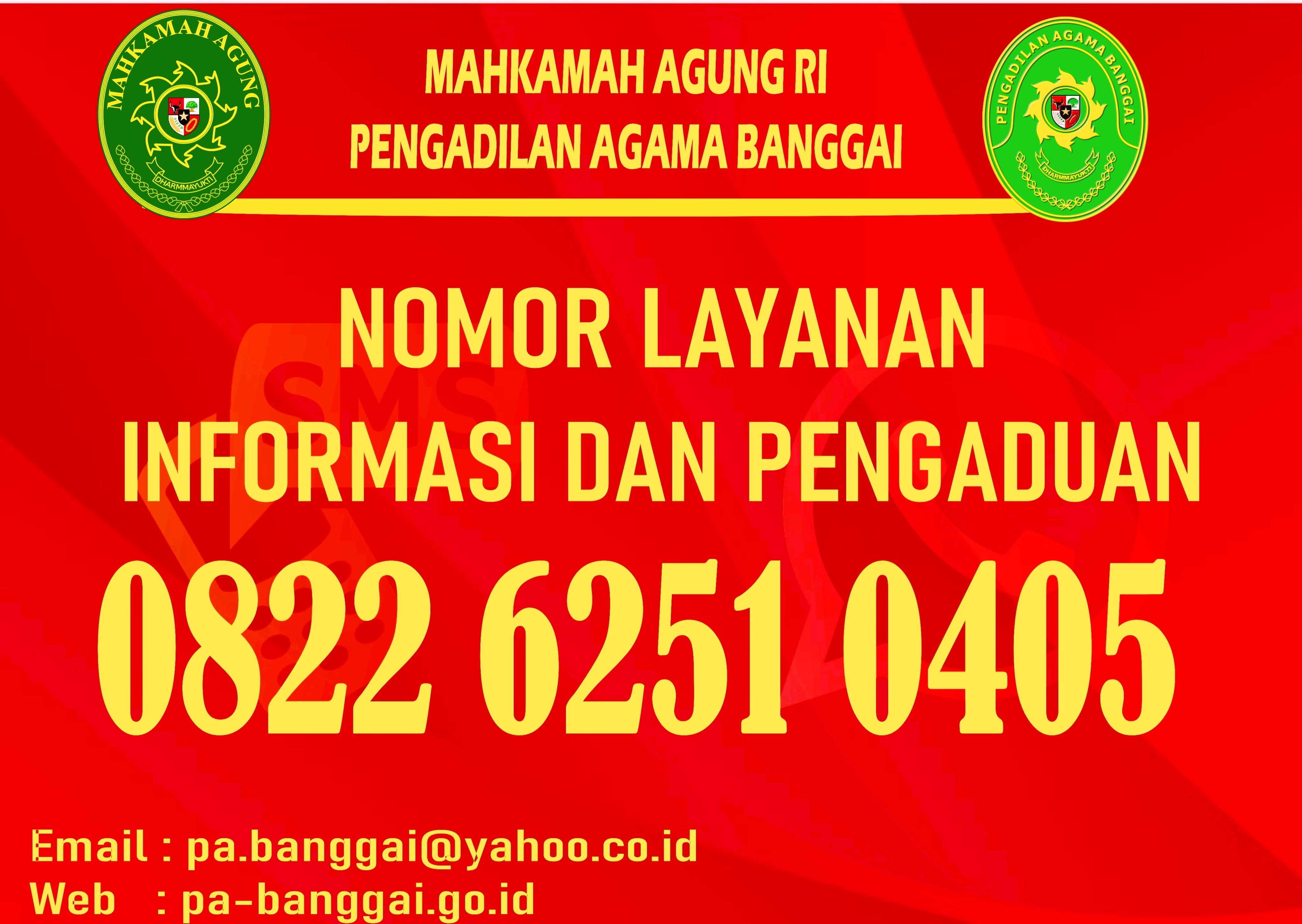 Nomor Layanan Informasi dan Pengaduan